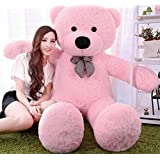 OSJS 3 Feet Huggable Teddy Bear with Neck Bow (Pink)