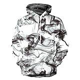 OYABEAUTYE Unisex Realistic 3d Print Galaxy Pullover Hoodie Hooded Sweatshirt (Small/Medium, Blackwhite2)