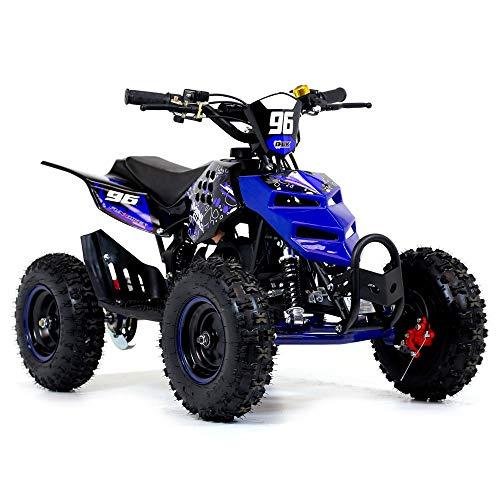 Quad mini con motor de 2 tiempos de 49 cc, ruedas de 6 pulgadas (15 cm), de gasolina, color naranja,...