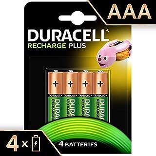 Duracell Recharge Plus AAA - Pila recargable 750 mAh, 4 unidades (B003B00484) | Amazon Products