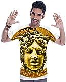 Cocaine And Caviar Medusa Luxury Head Golden T-shirt Medium