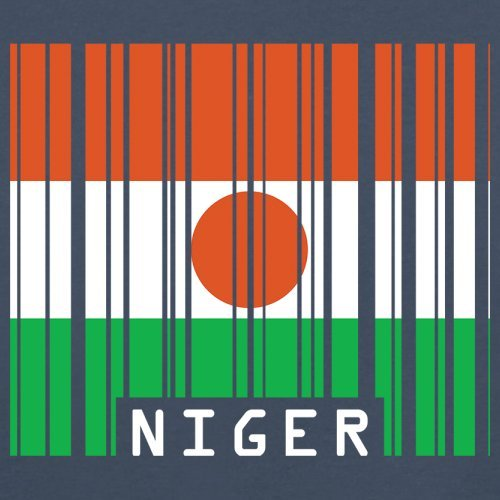Niger / Republik Niger Barcode Flagge - Herren T-Shirt - 13 Farben Navy