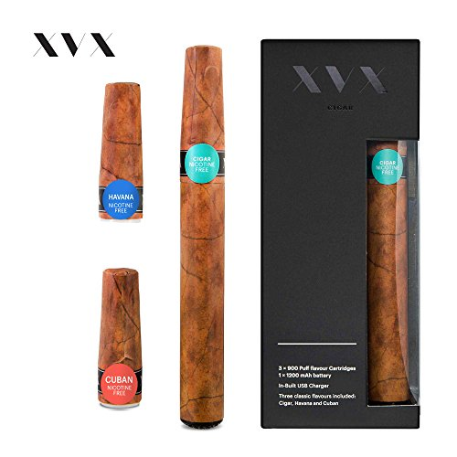 xvx-cigar-electronic-cigar-rechargeable-e-cigar-includes-prefilled-flavour-cartridges-cigar-flavour-
