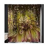 Knbob Duschvorhang Waschbar Antischimmel Blume Gelb Shower Curtain 150X180CM Inkl. Ringe Badezimmer Vorhänge