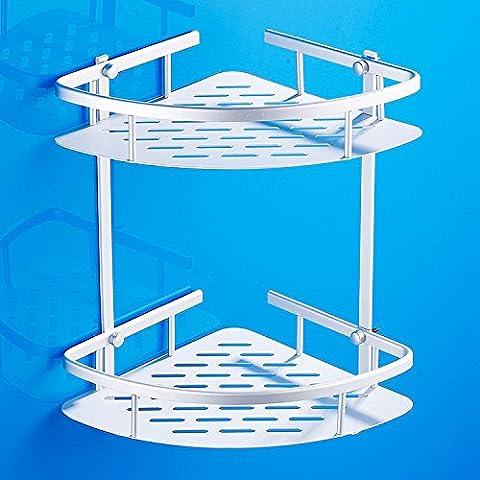 Mensola del bagno mensola triangolare monostrato in alluminio con doppio