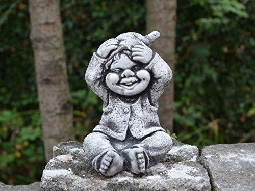 Lustiger kleiner Gnom II Troll Wichtel Fantasiefigur aus Steinguss frostfest - 2