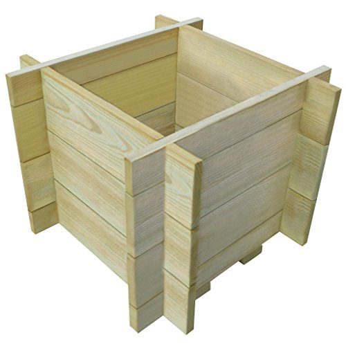 Galapara Holz Kompostsilo Bausatz - Stabiler Holzkomposter Komposter Kompostbehälter Hochbeet 40 x 40 x 32 cm, sehr robust, sehr einfacher Aufbau ohne Werkzeug, völlig schadstofffrei