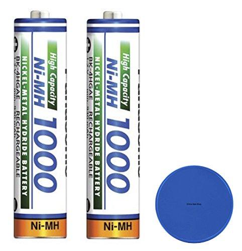 2x Panasonic AAA batería 1000mAh batería batería de repuesto para Siemens Gigaset–Teléfono inalámbrico A420A, A420A Duo a510a8, A510, C100, C150, C2, C200, C250, c38h, C320, C325, C475, A510A, a510h + Online Sale Shop ficha para el carro de la compra