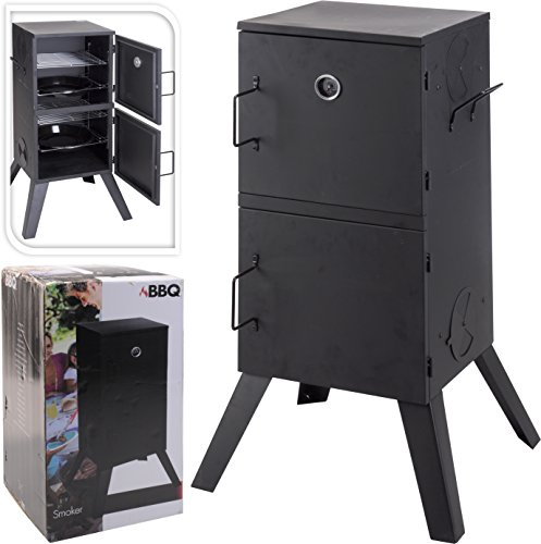 Vertical Upright Smoker BBQ Grill Charcoal Barbecue Smokehouse For Smoking With Thermostat For Garden Camping & Picnics