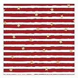Servietten 'Streifen und Sterne' - rot/gold (20 Stück) für Weihnachten, die Adventszeit und Feste