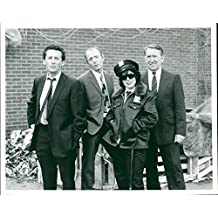 Vintage photo of Jasper Carrott, Robert Powell, George Sewell, and Ruby Wax in Canned Carrott.
