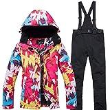 Ski Jacke + Pants Schnee warme Wasserdichte windundurchlässige Skifahren Snowboard Anzüge