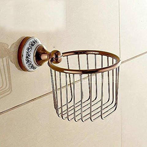 SSBY Europäische classic creative Kupfer wasserdicht WC-Papierhalter WC-Papierhalter wc Papierhalter Regal Korb