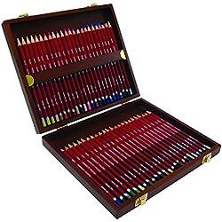 Derwent Pastel - Set de 48 lápices de colores pastel, con estuche de madera, multicolor