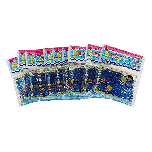 SODIAL(R) 10 Paquetes de Bola Grano Cuenta de Agua Cristal Gel para Decoracion - Purpura