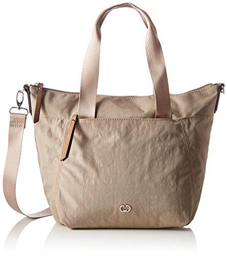 GERRY WEBER Damen Sunshine Handbag Mhz Schultertasche, Beige (Beige), 12x37x25,5 cm