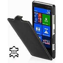 StilGut Ultraslim Case, Tasche aus Leder für Nokia Lumia 820, Schwarz