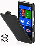 StilGut UltraSlim Case, custodia in vera pelle per Nokia Lumia 820, Nero