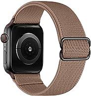 Anmino متوافق مع سوار ساعة Apple 38 مم 40 مم iWatch Band 42 مم 44 مم للرجال والنساء، سوار معصم مرن من النايلون