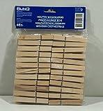 48 Wäscheklammern aus Holz 7,5 cm
