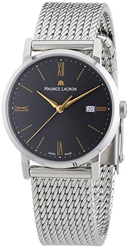 Maurice Lacroix EL1084-SS002-811 - Reloj analógico de Cuarzo para Mujer con Correa de Acero Inoxidable, Color Plateado