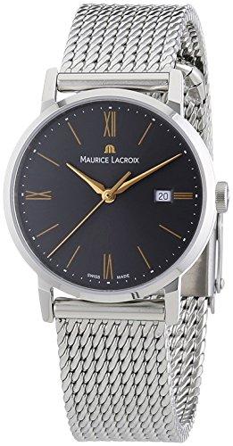 Maurice Lacroix EL1084-SS002-811 - Reloj analógico de Cuarzo para Mujer con Correa de Acero Inoxidable, Color Plateado