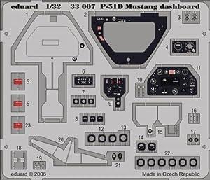 Eduard Accessories 3300730502000P-51D Mustang salpicadero para Hasegawa Montar.