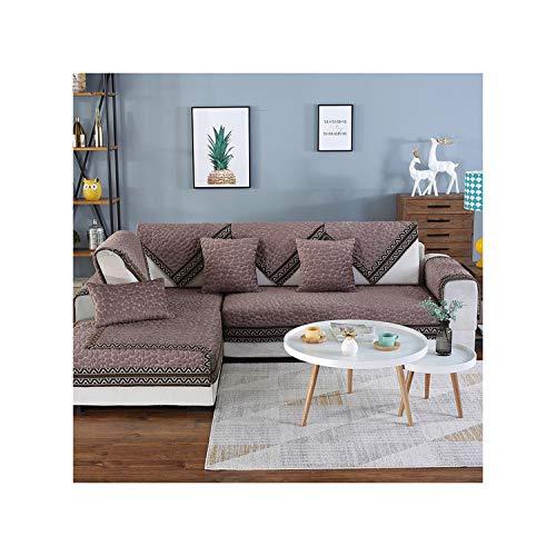 HGblossom Stoff Sofa Cover Handtuch rutschfeste elastische Gesteppte Kissen Universal Sofa Mat Covers für Wohnzimmer Kaffee 70X70 -