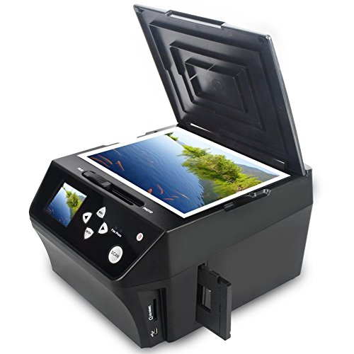Price comparison product image DIGITNOW!22MP Film &Slide Photo Multi-function Scanner, Convert 135 Film/35mmSlide /110Film/Photo/Document/Business card to HD 22MP Digital JPG Files,Includes 8GB Memory Card!