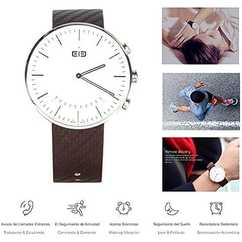 Elephone ELE W2 SmartWatch - Reloj Inteligente Bluetooth 4.0 Remoto de la Cámara, Resistente al Agua, Podómetro, Recordatorio de llamada, Monitor de Dormir para Android Smartphone/No Compatible con IOS (Plateado)