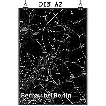 Mr Mrs Panda Poster DIN A2 Stadt Bernau Bei Berlin Black