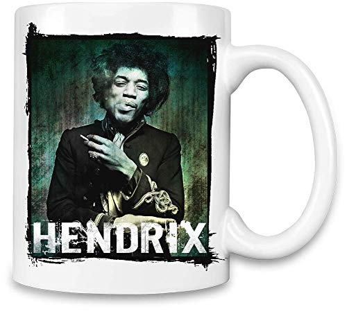 Jimi Hendrix Rauchen Smoking Unique Coffee Mug | 11Oz Ceramic Cup| The Best Way to Surprise Everyone On Your Special Day| Custom Mugs by -