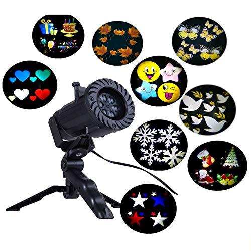 Xcxdx lampada da proiezione per esterni 12 modelli fiocco di neve prato impermeabile lampada paesaggio lampada decorazione film per uso festa festival