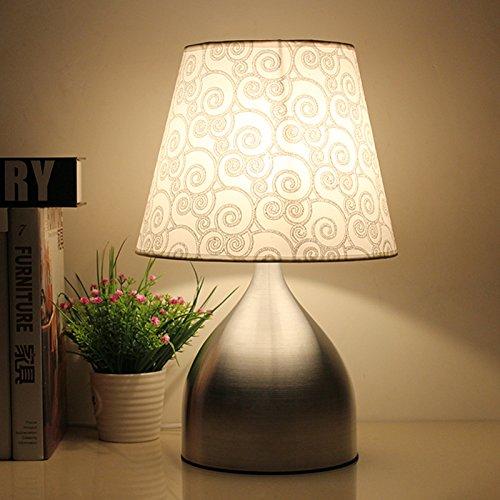 CLG-FLY Lampada lampada da comodino semplice camera da letto moderna decorazione idea lampada calda luce matrimonio incantevole,Interruttore dimmer manuale + 40W a