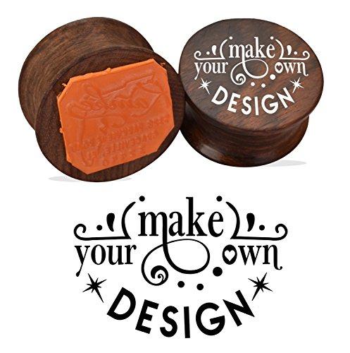 ¡Haz tu propio diseño! Sello de madera de sello de goma redonda redonda Cutomized