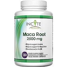 Cápsulas de raíz de Maca de 1000 mg, GARANTÍA DE REEMBOLSO DE SU DINERO, Compre 2 y EL ENVÍO ES GRATIS, son 180 cápsulas (Suminsitro para 6 mes) cápsulas vegetarianas, no en polvo, aceite o tabletas – Los beneficios para la salud incluyen el aumento de la fertilidad y ayuda para la menopausia, Vegan Maca proporciona gran cantidad de vitaminas tanto para hombres como mujeres.