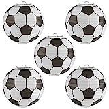 Kesote 8 Zoll Lampions Fußball Set, 5 Stück Hängedekoration für Weltmeisterschaft Party (20,3 cm)
