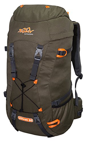 Tashev Trekkingrucksack Vihren 50 L Grün - Orange