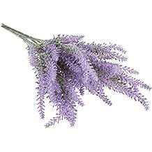 2 Bouquets Fleur Lavande Flocage Artificielle Décoration Maison Mariage - Violet