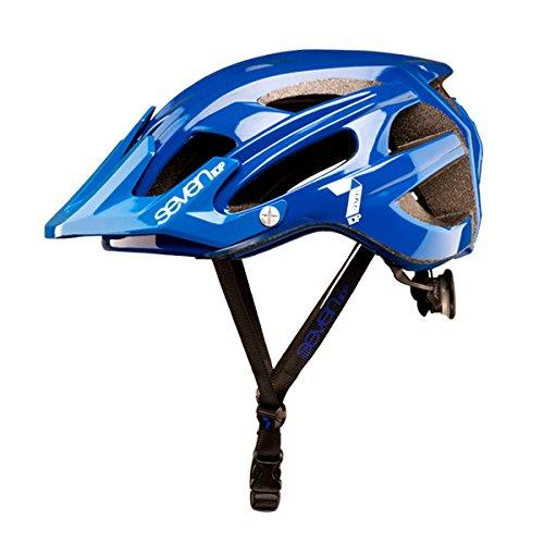 Seven M4, Casco de bicicleta Unisex Adulto, Azul (Bleu Mat/Blanc), S/M (54/58 cm)