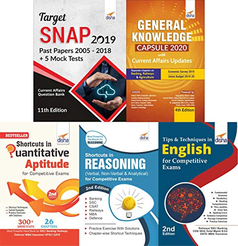 SNAP 2019 Simplified (14 yrs Past papers + 5 Mock Tests + Shortcuts in Quant/ Reasoning/ English + General Knowledge/ Current Affairs) 8th Edition