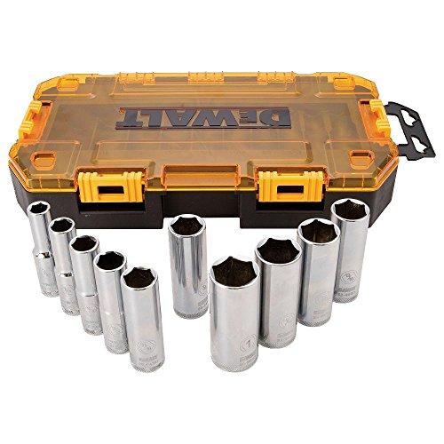 Dewalt dwmt73814Tough Box SAE Drive Tief Socket Set (10Stück), 1/5,1cm, DWMT73814