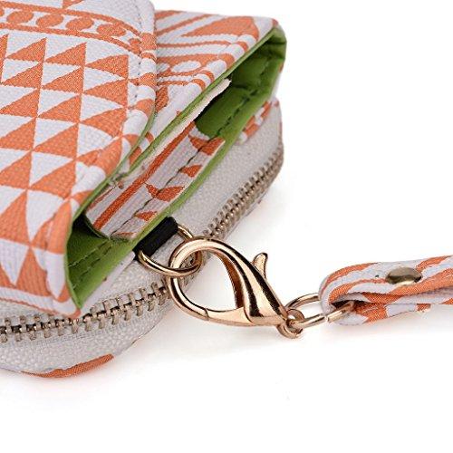 Kroo Pochette/étui style tribal urbain pour Alcatel POP S3 Rose White and Orange