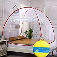 VERDIOZ WITH DEVICE Mosquito Net Foldable Double Bed | King Size | Queen Size for Baby | Kids | Adult, 100% Ve
