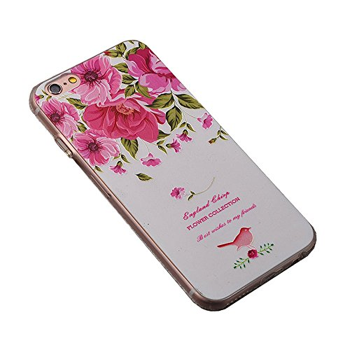 Apple Cover in Silicone TPU Case Cover TPU Gel Silicone Copertura Tacsa Custodia Caso Cover per iPhone 7 plus ( 5.5)orso Rugiada di rosa