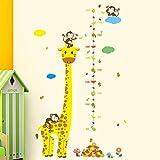 Rainbow Fox Kinder Wachstum Diagramm Wandaufkleber Tierzoo Wandtattoo, Affe, Elefant Giraffe Baum Höhenmaß (#3)