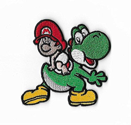 Yoshi 's Island Patch Bestickt Eisen/Nähen auf Badge DIY Aufnäher Baby Mario Yoshi Dinosaurier Kostüm SNES/Mario World/Super Mario Brothers