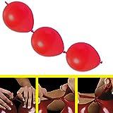 partydiscount24 50 x Girlandenballons Ø 30 cm   Freie Farbwahl   19 Ballon Farben (Rot)