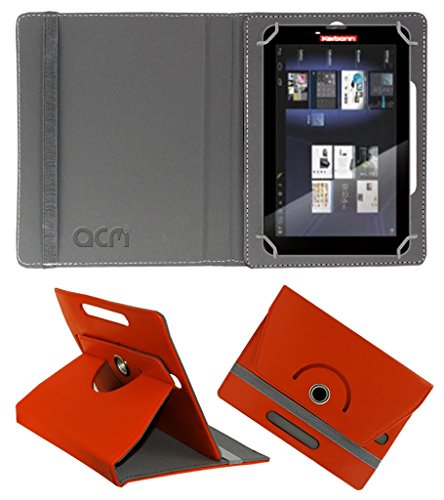 Acm Rotating 360° Leather Flip Case for Karbonn A34 Hd Star Cover Stand Orange  available at amazon for Rs.149