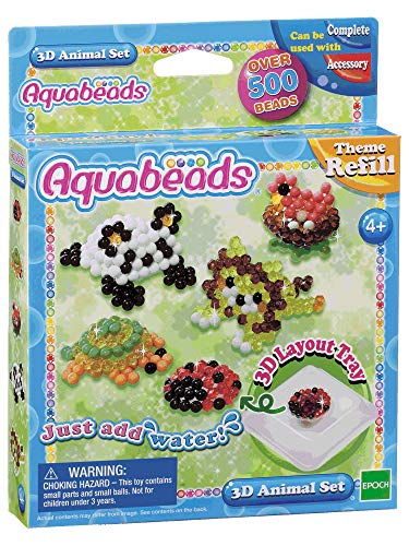 Aquabeads 79218 3D Tier Set, Kinder Bastelset
